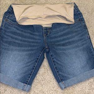 Bermuda style jean shorts